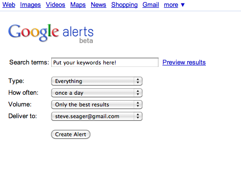 Social media monitoring for free 5 tools to get you started Google Alerts